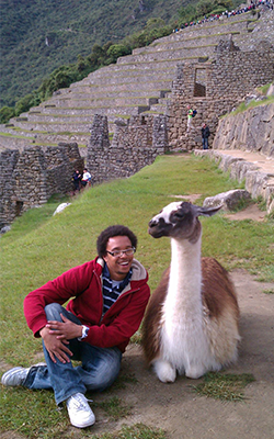 Study Abroad - Student with Alpaca