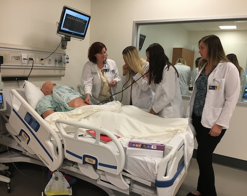 MS-DI Students work in the Simulation Lab
