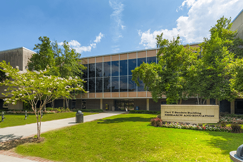 Carl Sanders Research and Education Building on Augusta University's Health Sciences Campus