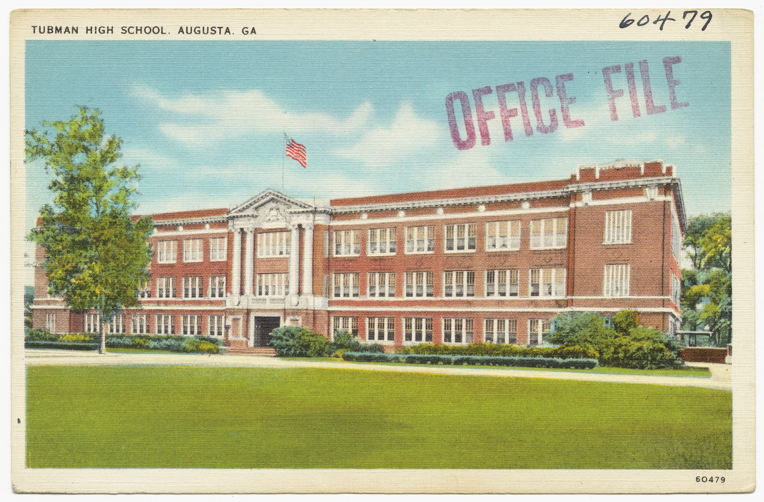 Postcard of Tubman High School. Source: Boston Public Library
