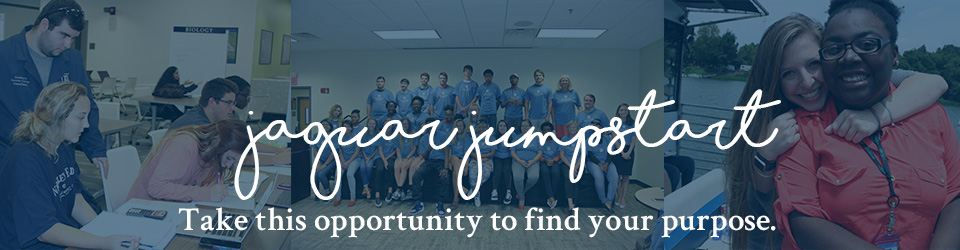 Jaguar Jumpstart: Take this opportunity to find your purpose.