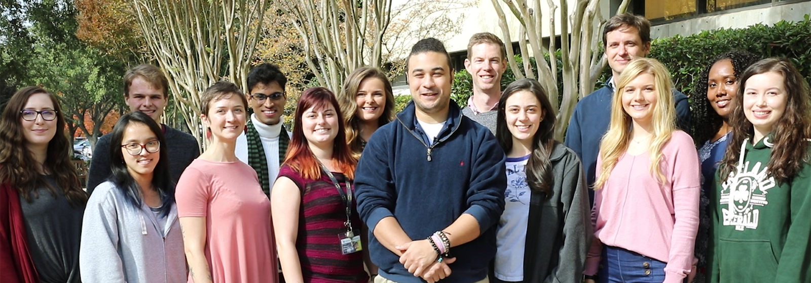 Group photo of graduate student council members