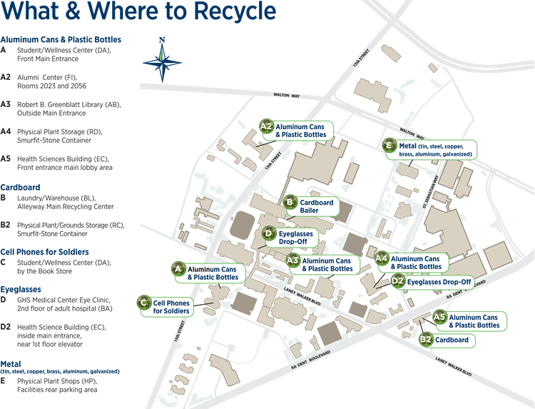 What and Where to Recycle map
