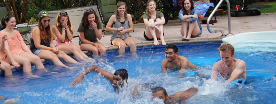 Star Program students enjoy pool party