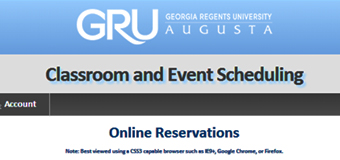 EMS allows users to request facilities and audiovisual services for events on Health Sciences and Summerville campuses.