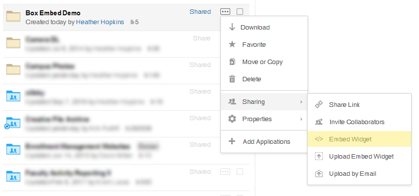 How to Create an Embed Widget in Box