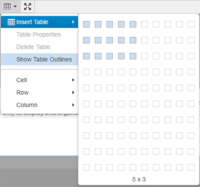 Tables for Table th width auto