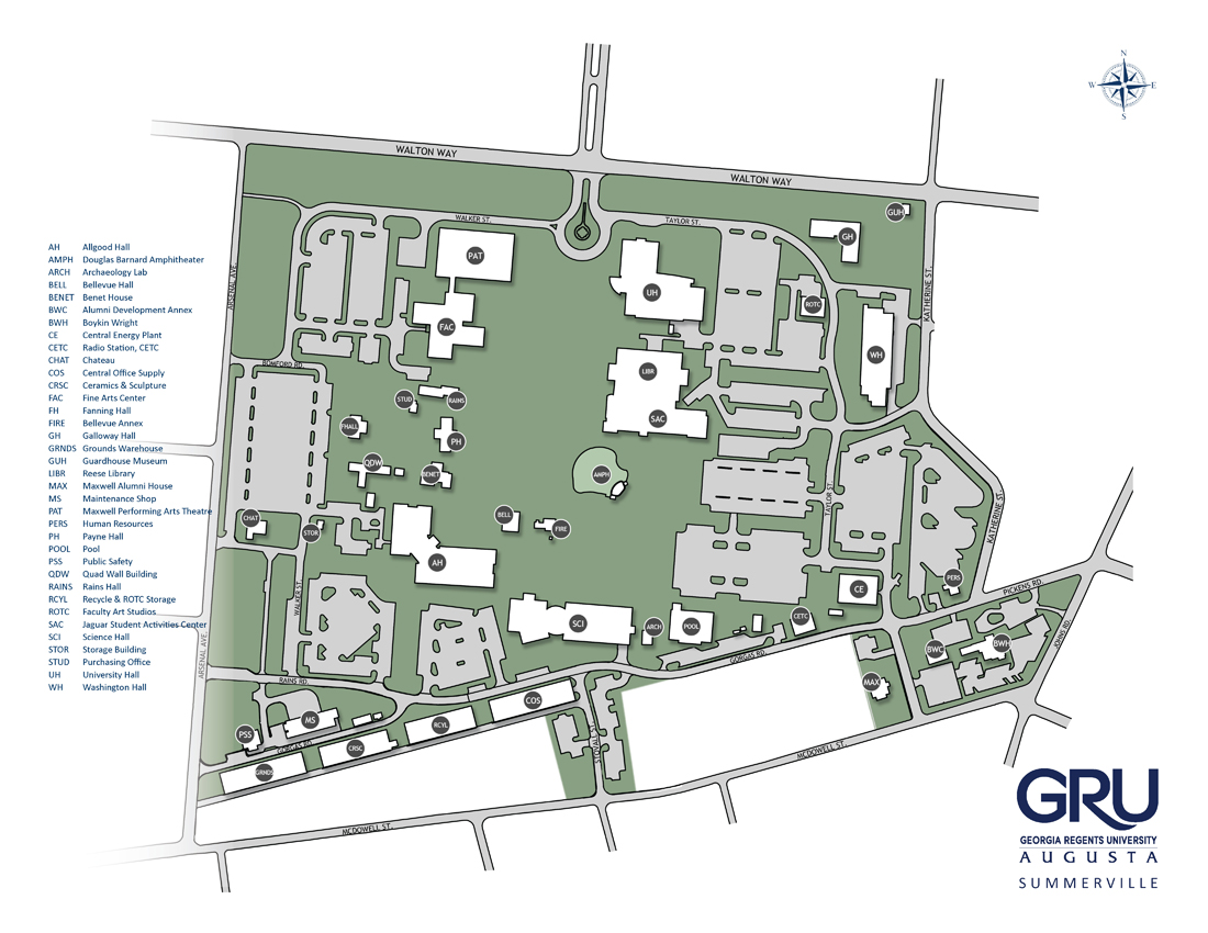 Gru Campus Map Summerville Campus Building Codes Gru Campus Map