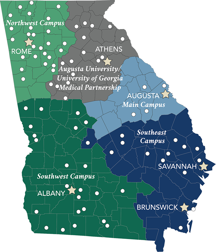 Map Of Colleges In Georgia.Mcg Campuses