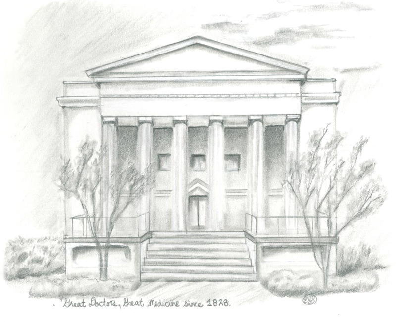 Drawing of Old MCG Building