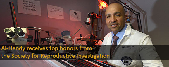 Al-Hendy receives top honors from the Society for Reproductive Investigation