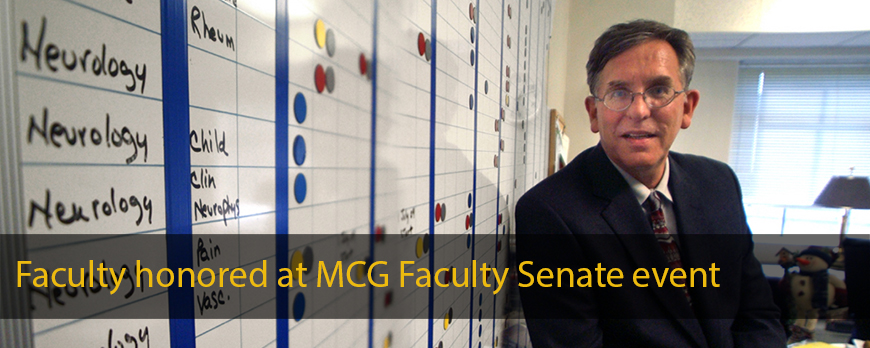 Faculty honored at MCG Faculty Senate event