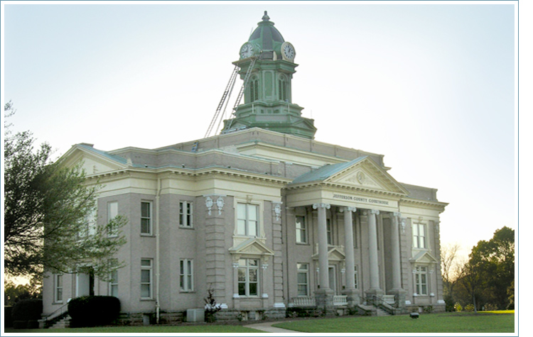 Jefferson County Courthouse in Louisville, GA