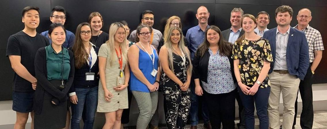 2019 Melbourne - Dr. O'Connor with students and colleagues