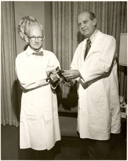 Historical Photo of Drs. Dow and Curtis