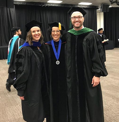 2018 MCG Physiology Graduates - Drs. Becca Ward and Trevor Hardigan with Mentor Dr. Ergul width: 170; height: 173