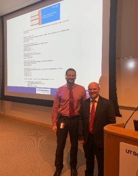 Dr. Brian Miller and Dr. Weir at UTMS