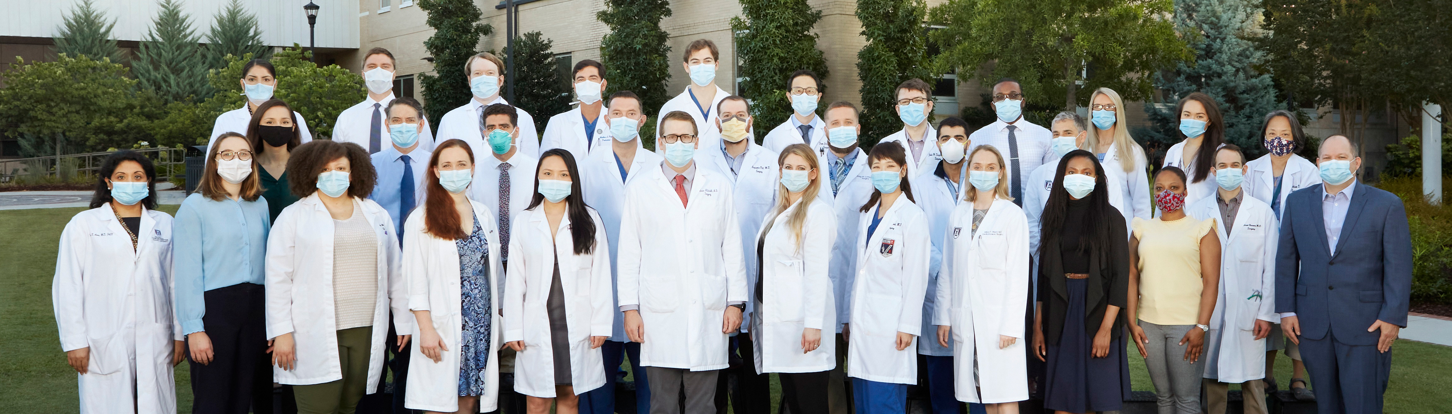 GME residents wearing masks