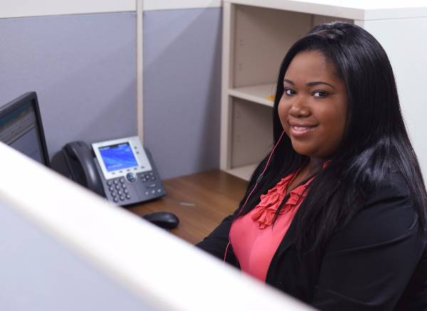 Criminal Justice student Nikkiah Boyd serving as an intern for Richmond County Public Defender's Office