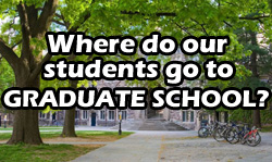 Where do our students go to graduate school?