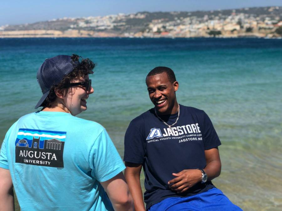 Augusta University students in Greece